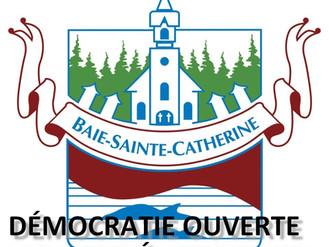 COMMUNIQUÉ DE PRESSE - Baie-Sainte-Catherine à l'ère des données ouvertes et prémisse d'une démocrat