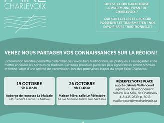 Invitation - Faire Charlevoix