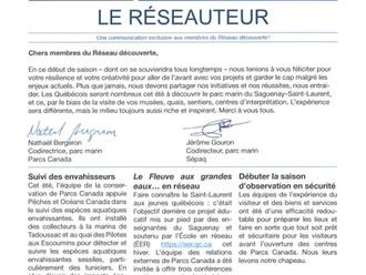 Le Réseauteur - Juillet 2020 - Parc Marin du Saguenay-Saint-Laurent.
