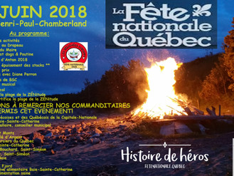 FÊTE NATIONALE DU QUÉBEC 2018 - Festivités de la Capitale mondiale de la ZÉNitude et des baleines