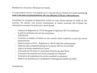 Séance Ordinaire du Conseil Municipal - 4 mai 2020