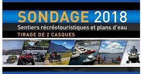 SONDAGE 2018 - Sentiers récréotouristiques et plans d'eau