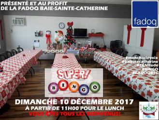 SUPER BINGO de la FADOQ BSC - Dimanche 10 décembre 11h00