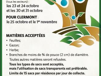 Collecte annuelle des résidus verts dans la MRC de Charlevoix-Est