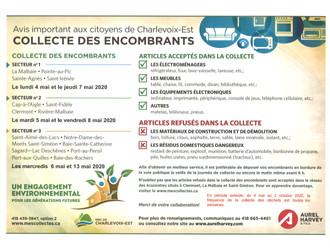 Retard dans la collecte pour Baie-Sainte-Catherine, qui aura lieu le 7 et 8 mai 2020.