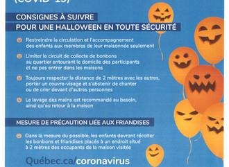 Consignes pour une Halloween en toute sécurité