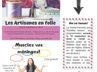 Centre-Femmes aux Plurielles - À faire en septembre !