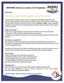ILLUMINONS LE QUÉBEC - Une belle initiative de Rivières de Lumières
