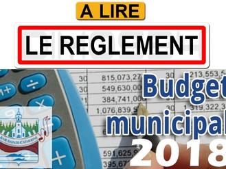 Règlement municipal 175-18 - Prévisions budgétaires 2018
