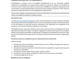 Conseil d'administration du Centre de services scolaire de Charlevoix.