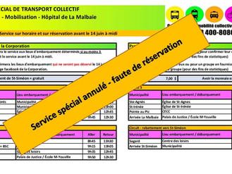 MOBILISATION HÔPITAL DE LA MALBAIE Réservation avant le 14 juin - Midi