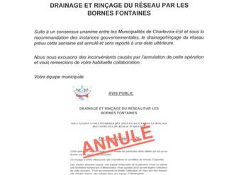 AVIS PUBLIC - ANNULATION DRAINAGE DU RÉSEAU D'EAU POTABLE