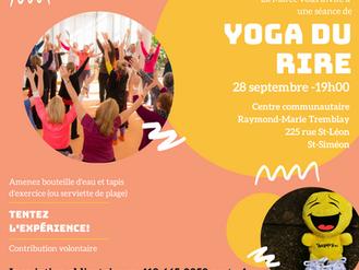 Yoga du rire à St-Siméon - Tentez l'expérience!