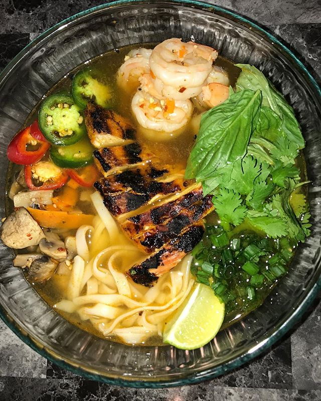 Grilled Chicken and Shrimp PHO
