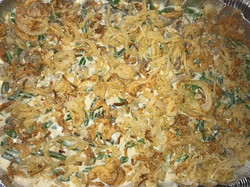 Green bean Casserole (from scratch no Campbell's mushroom soup or Frenchs fried onions lol )