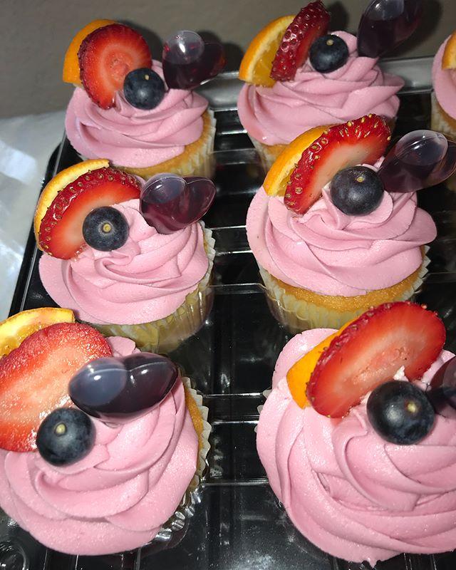 Sangria Cupcakes 🍷🍷🍷