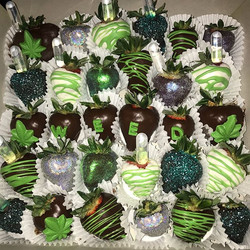 Weed infused dipped strawberries