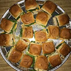 Mini turkey sandwiches on jalapeño Hawaiian rolls