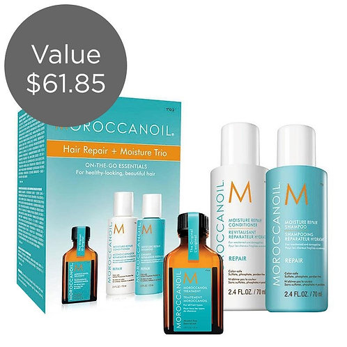 Moroccanoil Hair Repair + Moisture Trio: On-The-Go-Essentials