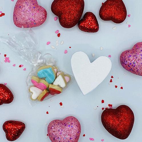 Mini Heart box with cookies
