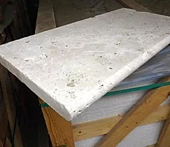 Travertine - Ivory - Unfilled and Tumbled - Bullnose