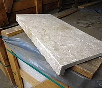 Travertine - Ivory - Unfilled and Tumbled - Dropface
