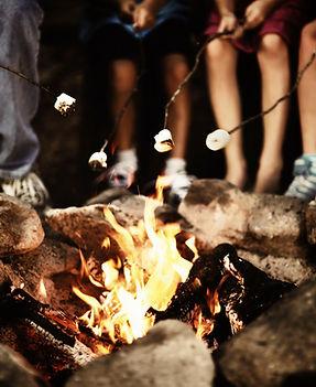 Camp brann i natt