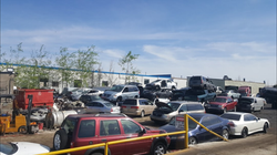 scrap cars junkyard