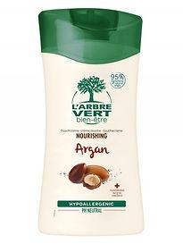 Crème douche nourrissante Argan 250ml, l'Arbre Vert