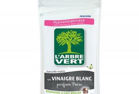 Vaisselle Mains au Vinaigre Blanc parfum Poire 750ml L'Arbre Vert