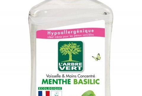 Vaisselle Mains Menthe Basilic 500ml L'Arbre Vert