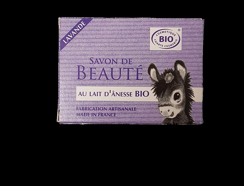 Savon au lait d'ânesse Bio à l'Huile essentielle de Lavande