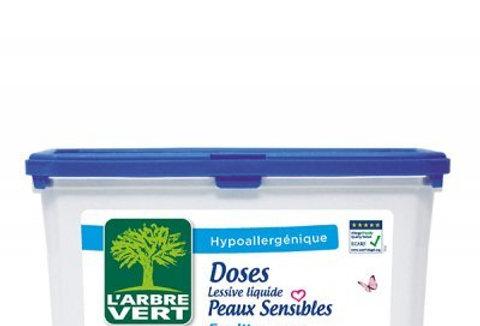 Lessive liquide Ecologique Peaux sensibles 22 doses l'Arbre Vert