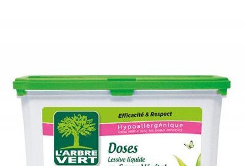 Doses lessive liquide savon végétal 22 doses l'Arbre Vert