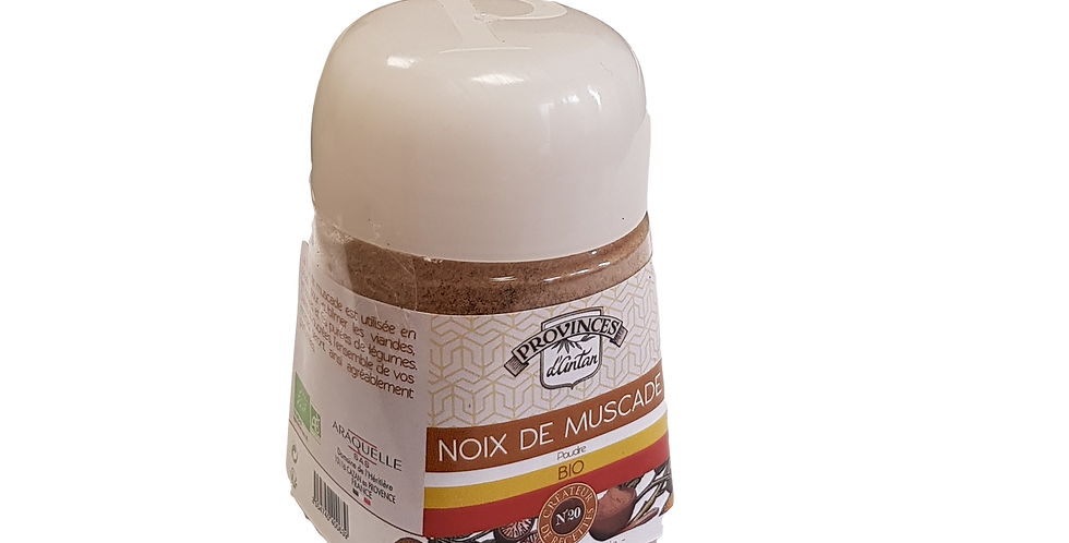 Noix de Muscade en poudre Bio, Flacon gradué 100ml
