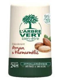 Déodorant Argan & Hamamélis 50 ml, l'Arbre Vert