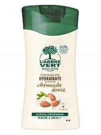 Crème douche hydratante Amande douce 250ml, l'Arbre Vert