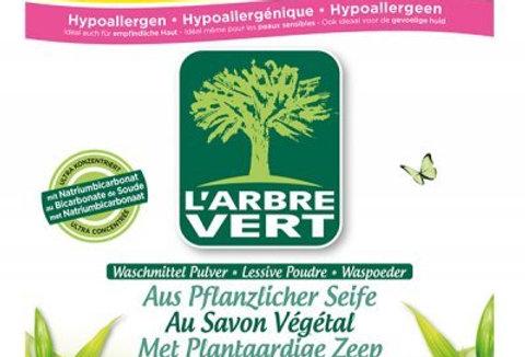 Lessive poudre au Savon Végétal, écologique 2.5kg l'Arbre Vert