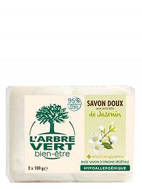 Savon doux aux extraits de Jasmin l'Arbre Vert