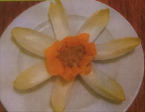 Chicory salad flower with orange