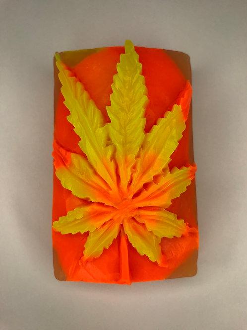 Yellow/Orange/Clear Weed Leaf