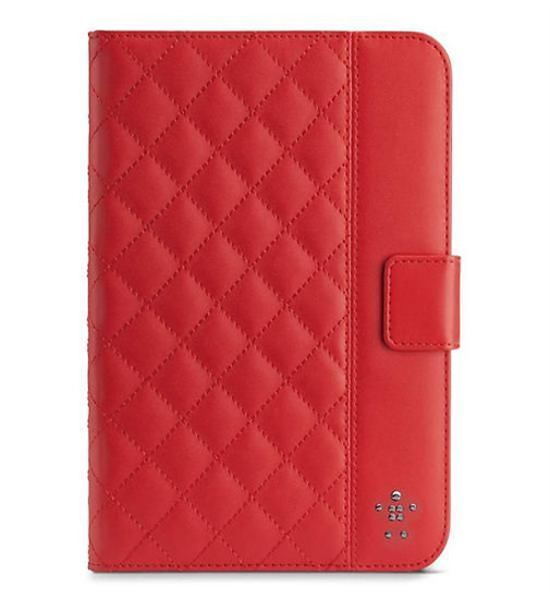 Belkin Quilted Cover With Stand For Ipad Mini In Ruby