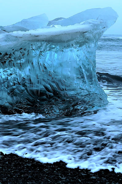 On your family visit to Iceland you can see dramatic pieces of Jökulsárlón glacier shining like diamonds