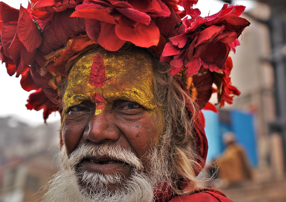 This flower-adorned sadhu seemed to have been a regular fixture on the ghats of Dashashwamedh. This region is home to quite a few of these wandering holy men, some of whom are only temporary visitors, while others who've carved out a permanent abode in this city of myth and mystery.