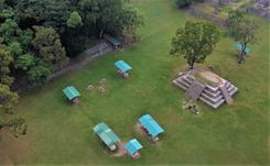 Aerial View of Copán Ruinas, Mayan Ruins in Honduras