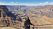 The vastness of the Grand Canyon becomes apparent even before you're standing close to it. It is one of the seven natural wonders of the world, and visited by millions of people from all over the world.