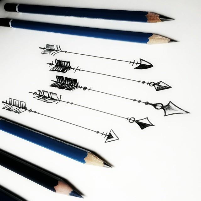 ↗↗↗ #arrowtattoo #sketch