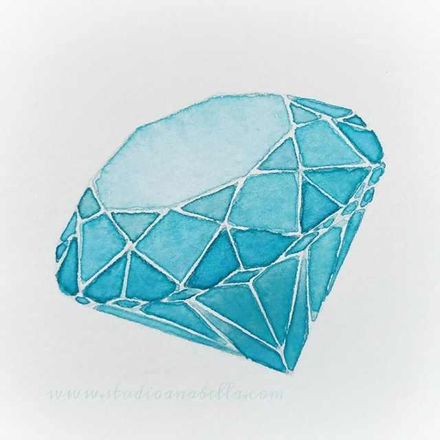 💎#watercolourdoodle 💎 #practice  #diamond #diamondpainting #watercolor #aquarelle #watercolour #dr