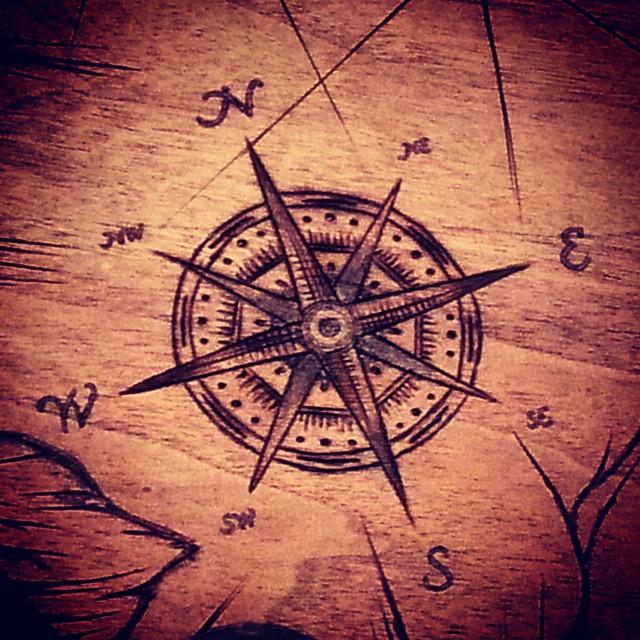 #woodburning #pyrography #woodburningart #compass