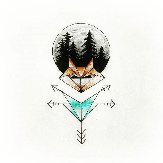 #geometricfox #geometrictattoo #fox #foxy #tattoo #tattoodesign #ink #inked #inkedwomen #girlswithta
